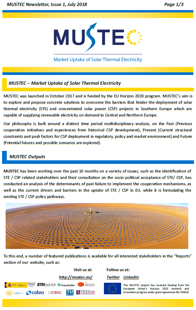 MUSTEC Newsletter July 2018