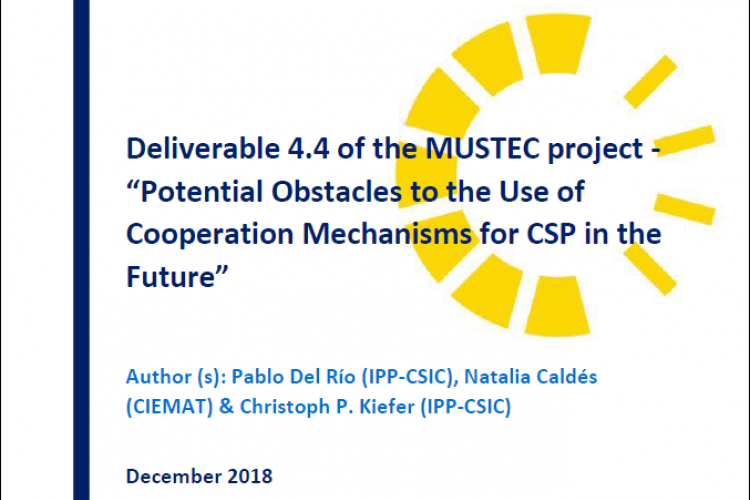 Report: Potential Obstacles for the Use of Cooperation Mechanisms for CSP in the Future