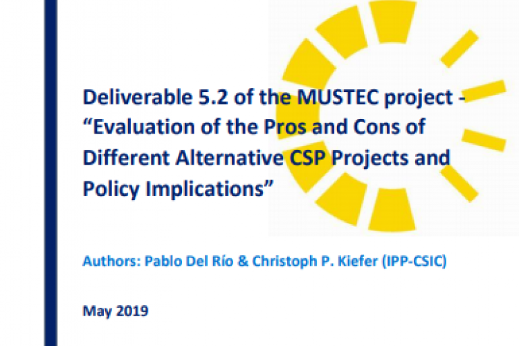 Report: Evaluation of the Pros and Cons of Different Alternative CSP Projects and Policy Implications