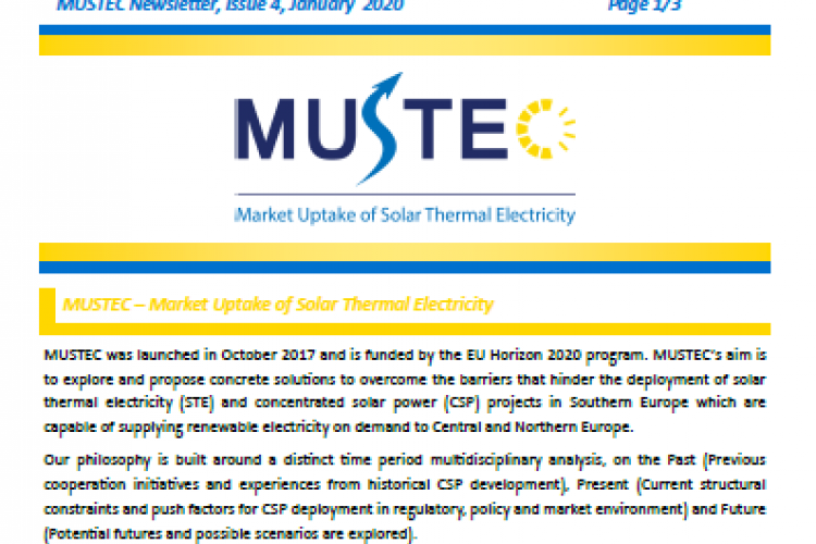 MUSTEC NEWSLETTER, ISSUE 4, JANUARY 2020