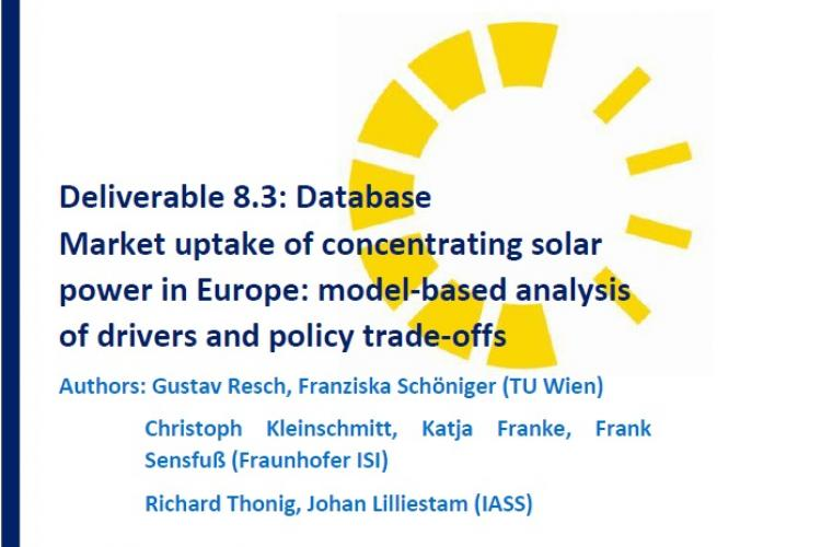 REPORT: MODEL-BASED ANALYSIS OF DRIVERS AND POLICY TRADE-OFFS FOR THE CSP MARKET UPTAKE IN EUROPE