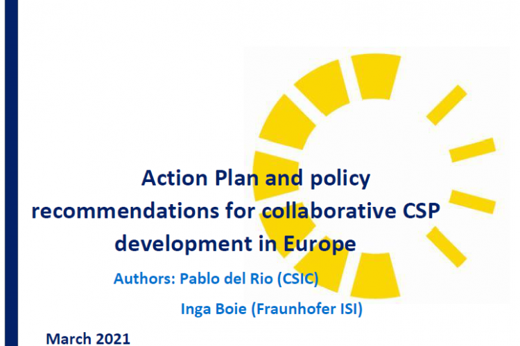ACTION PLAN AND POLICY RECOMMENDATIONS FOR COLLABORATIVE CSP DEVELOPMENT IN EUROPE