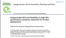 SPECIAL ISSUE: DISPATCHABLE RES AND FLEXIBILITY IN HIGH RES PENETRATION SCENARIOS